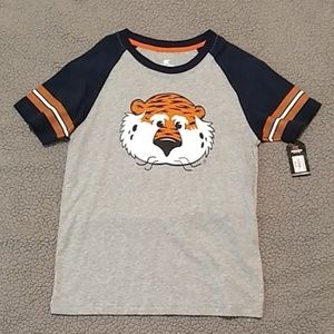 Auburn Boys t shirt size Large New